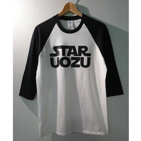 STAR UOZU ラグラン 白×黒